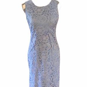 Daniel Cremieux Blue Lace Covered Dress Size 2